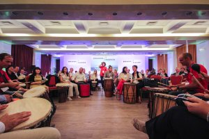 a. corporate drum circle